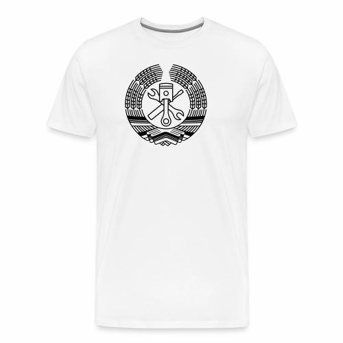 DDR Werkstatt Tuning Wappen (+ Dein Text) - Men's Premium T-Shirt