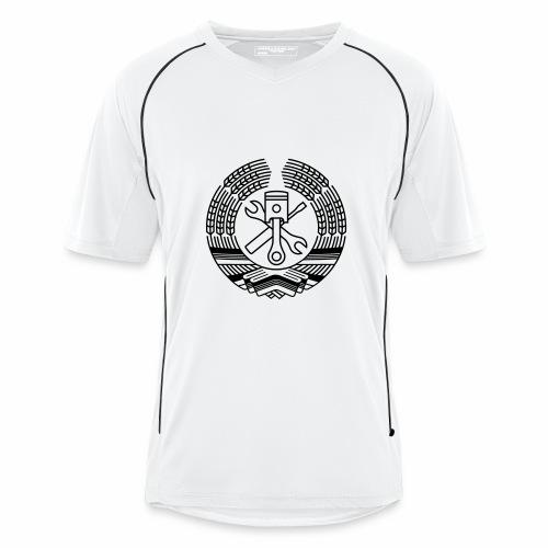 DDR Werkstatt Tuning Wappen (+ Dein Text) - Men's Football Jersey