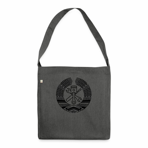 DDR Werkstatt Tuning Wappen (+ Dein Text) - Shoulder Bag made from recycled material