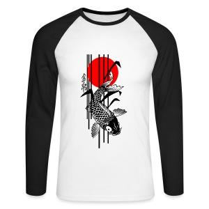 Bamboo Design - Nishikigoi - Koi Fish 3 - Männer Baseballshirt langarm