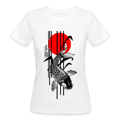 Bamboo Design - Nishikigoi - Koi Fish 3 - Frauen Bio-T-Shirt