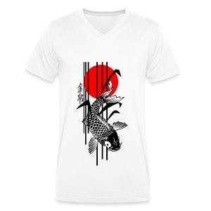Bamboo Design - Nishikigoi - Koi Fish 3 - Männer Bio-T-Shirt mit V-Ausschnitt von Stanley & Stella