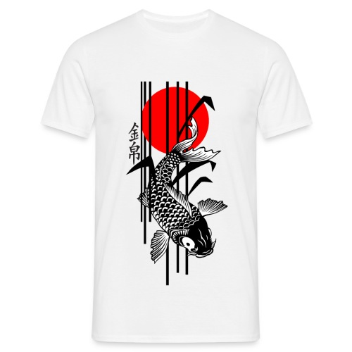 Bamboo Design - Nishikigoi - Koi Fish 3 - Männer T-Shirt