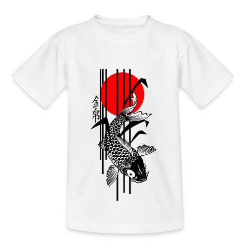 Bamboo Design - Nishikigoi - Koi Fish 3 - Teenager T-Shirt