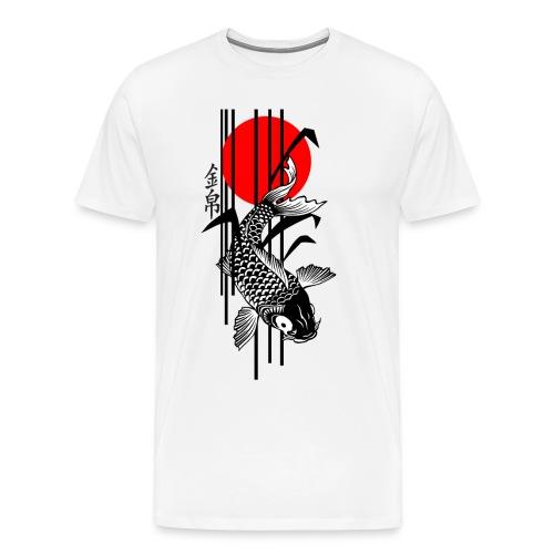 Bamboo Design - Nishikigoi - Koi Fish 3 - Männer Premium T-Shirt