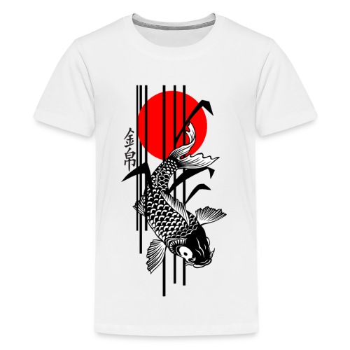Bamboo Design - Nishikigoi - Koi Fish 3 - Teenager Premium T-Shirt