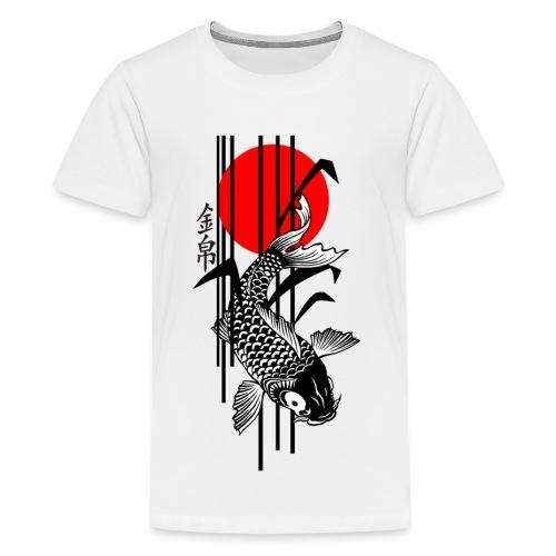 Bamboo Design - Nishikigoi - Koi Fish 3 - Teenager Premium T-Shirt