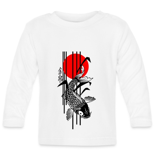 Bamboo Design - Nishikigoi - Koi Fish 3 - Baby Langarmshirt