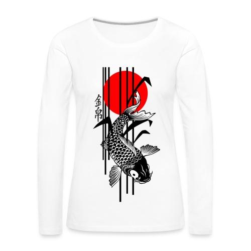 Bamboo Design - Nishikigoi - Koi Fish 3 - Frauen Premium Langarmshirt