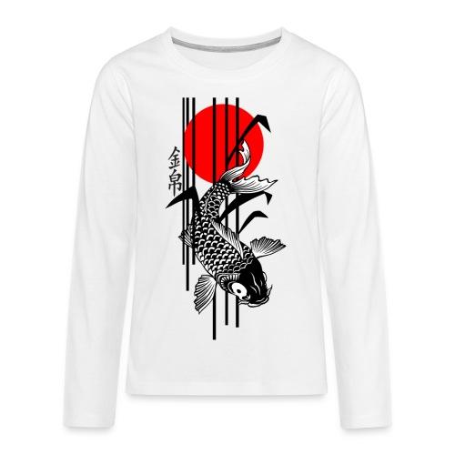 Bamboo Design - Nishikigoi - Koi Fish 3 - Teenager Premium Langarmshirt