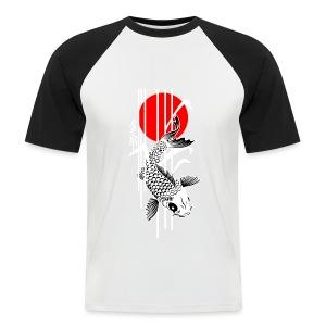 Bamboo Design - Nishikigoi - Koi Fish 4 - Männer Baseball-T-Shirt