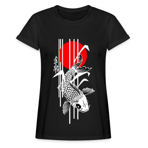 Bamboo Design - Nishikigoi - Koi Fish 4 - Frauen Oversize T-Shirt