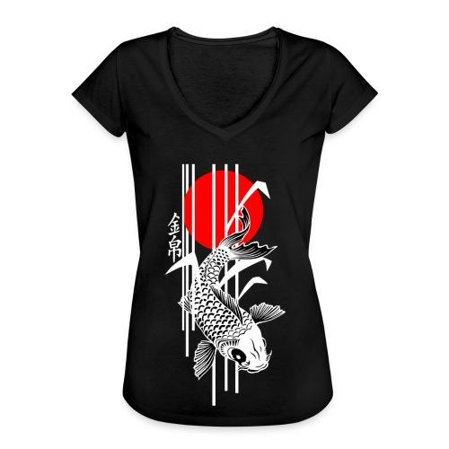 Bamboo Design - Nishikigoi - Koi Fish 4 - Frauen Vintage T-Shirt