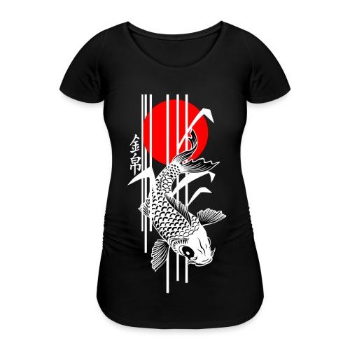 Bamboo Design - Nishikigoi - Koi Fish 4 - Frauen Schwangerschafts-T-Shirt