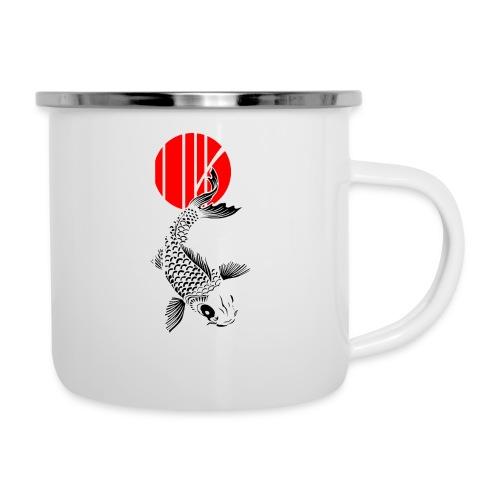 Bamboo Design - Nishikigoi - Koi Fish 4 - Emaille-Tasse