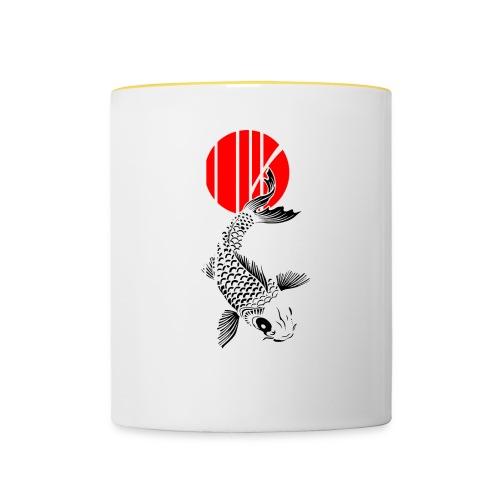 Bamboo Design - Nishikigoi - Koi Fish 4 - Tasse zweifarbig