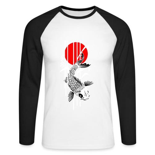 Bamboo Design - Nishikigoi - Koi Fish 4 - Männer Baseballshirt langarm