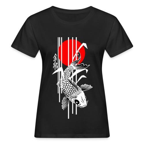 Bamboo Design - Nishikigoi - Koi Fish 4 - Frauen Bio-T-Shirt