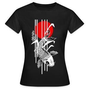 Bamboo Design - Nishikigoi - Koi Fish 4 - Frauen T-Shirt