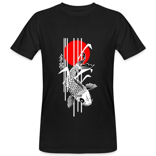 Bamboo Design - Nishikigoi - Koi Fish 4 - Männer Bio-T-Shirt