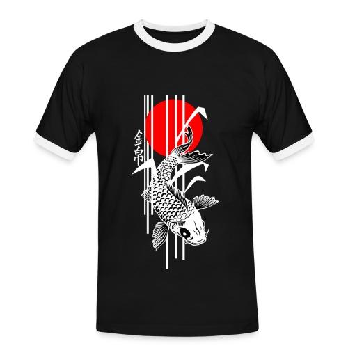 Bamboo Design - Nishikigoi - Koi Fish 4 - Männer Kontrast-T-Shirt