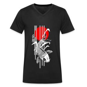 Bamboo Design - Nishikigoi - Koi Fish 4 - Männer Bio-T-Shirt mit V-Ausschnitt von Stanley & Stella