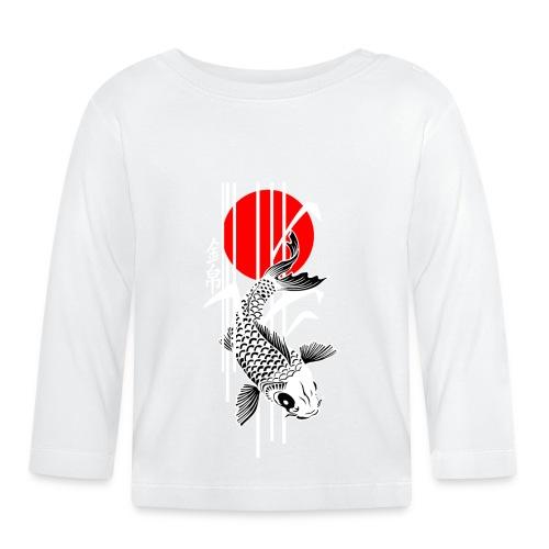Bamboo Design - Nishikigoi - Koi Fish 4 - Baby Langarmshirt