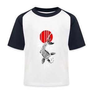 Bamboo Design - Nishikigoi - Koi Fish 4 - Kinder Baseball T-Shirt
