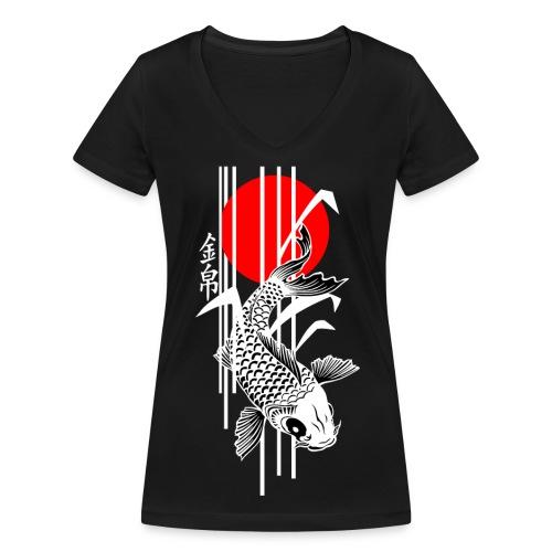 Bamboo Design - Nishikigoi - Koi Fish 4 - Frauen Bio-T-Shirt mit V-Ausschnitt von Stanley & Stella