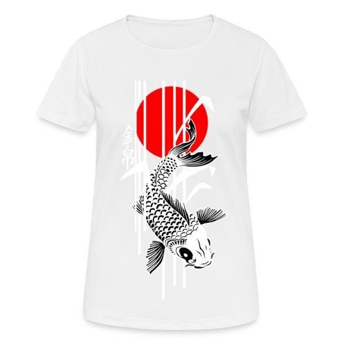 Bamboo Design - Nishikigoi - Koi Fish 4 - Frauen T-Shirt atmungsaktiv