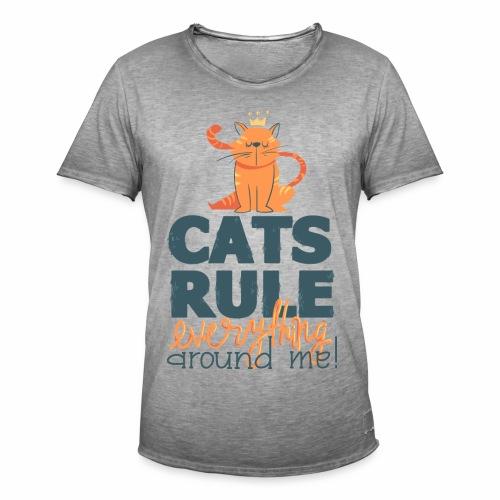 Cats Rule - Männer Vintage T-Shirt