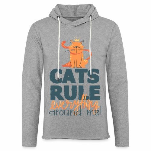 Cats Rule - Leichtes Kapuzensweatshirt Unisex
