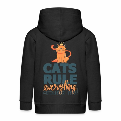 Cats Rule - Kinder Premium Kapuzenjacke