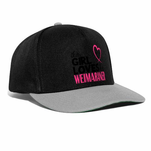 Snapback Cap - This girl loves her weimaraner