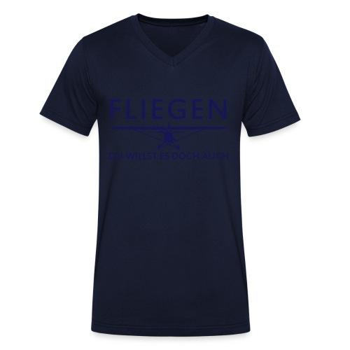 Fliegen - Männer Bio-T-Shirt mit V-Ausschnitt von Stanley & Stella