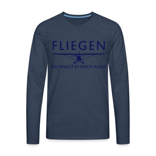 Fliegen - Männer Premium Langarmshirt