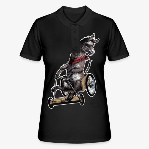 Donkey  and Cart - Women's Polo Shirt