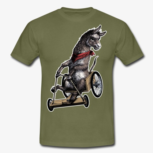 Donkey  and Cart - Men's T-Shirt