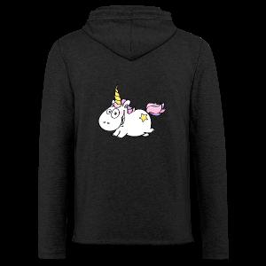 cloth bag flying unicorn - Leichtes Kapuzensweatshirt Unisex