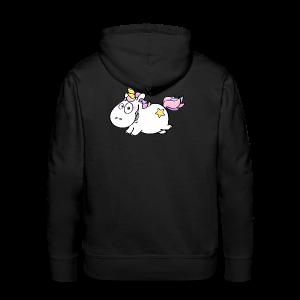 cloth bag flying unicorn - Männer Premium Hoodie