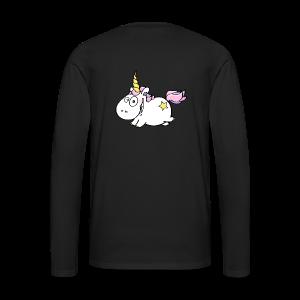 cloth bag flying unicorn - Männer Premium Langarmshirt