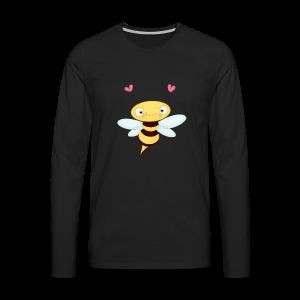 cloth bag bee - Männer Premium Langarmshirt
