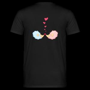 cloth bag hedgehogs in love - Männer T-Shirt
