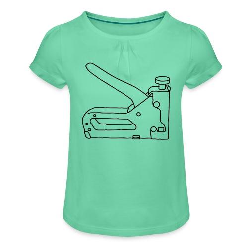 Tacker Nagler - Mädchen-T-Shirt mit Raffungen