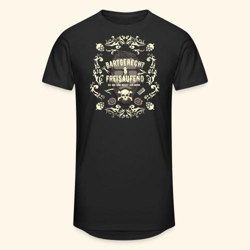 Lustiges Vintage Style Shirt Bartgerecht & freisaufend - Männer Urban Longshirt