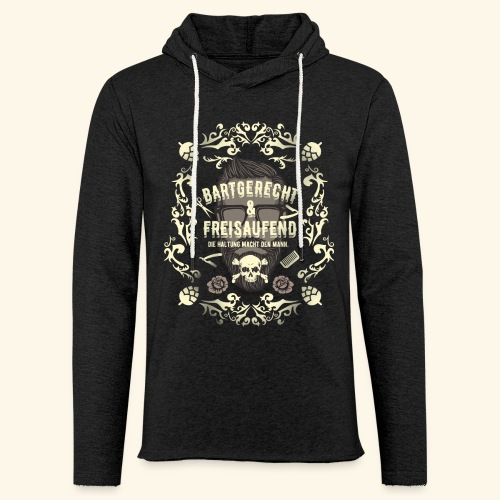 Lustiges Vintage Style Shirt Bartgerecht & freisaufend - Leichtes Kapuzensweatshirt Unisex