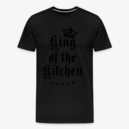 King of the Kitchen cook Koch Krone Crown T-Shirt 05 - Männer Premium T-Shirt
