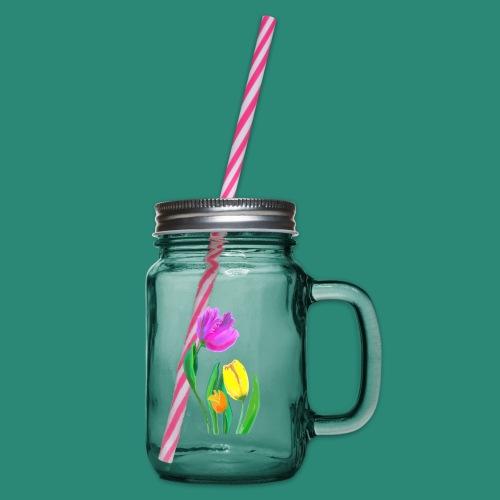 FrauenT-Shirt Tulpen - Henkelglas mit Schraubdeckel