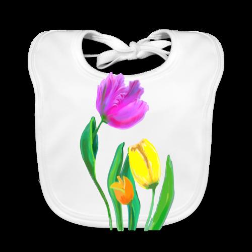 FrauenT-Shirt Tulpen - Baby Bio-Lätzchen