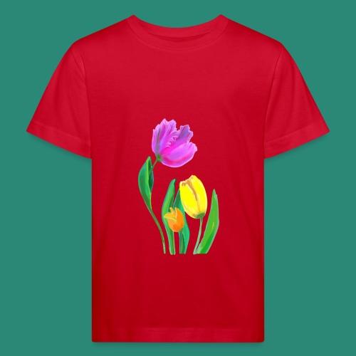 FrauenT-Shirt Tulpen - Kinder Bio-T-Shirt